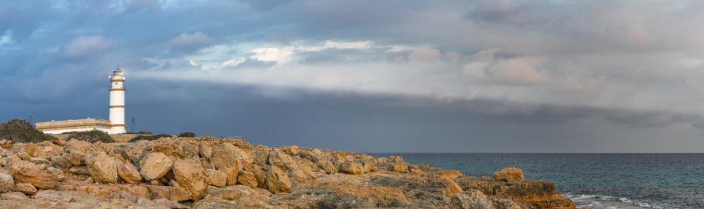 lighthouse on the majorca coast